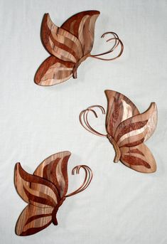 Intarsia-style butterflies