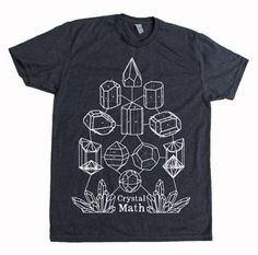 Men's Crystal Math Screen Printed T-Shirt Crystal Power Sacred Geometry on Etsy, $20.00
