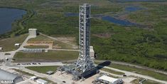 2/23/18 The leaning tower of Nasa: $1 BILLION 'mobile launchpad' may only be used to fire rockets to space once because it is tilting  The tower was recently upgraded with the addition of connecting arms  However, these structures caused the $1 billion tower to lean to the side   Nasa is preparing it for the maiden launch of the agency's Space Launch System mega-rocket in 2019
