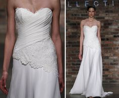lace draped bodice wedding gown