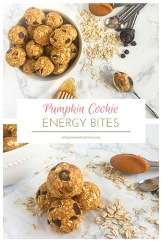 Your favorite pumpkin cookie rolled into an energy bite snack!   Pumpkin Cookie Energy Bites   EmPowered Nutrition