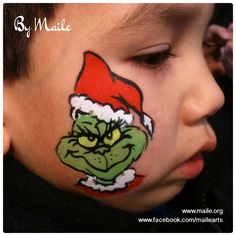 The Grinch face painting by Maile: www.maile.org.
