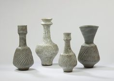 Lucie Rie I love the rough textures on these rather primitive-looking vessels. Oh so wonderful, so evocative!
