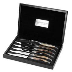 Laguiole - Steak Knives Set Horn 6pce