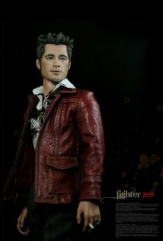 "1/6 Custom Figure by Rainman  Brad Pitt as Tyler Durden in Fight Club. Customized by Rainman from a Hot Toys 12"" figure."