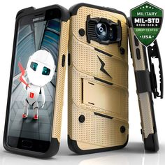Zizo Bolt Series Compatible with LG Stylo 2 Case Military Grade Drop Tested with Tempered Glass Screen Protector, Holster, Kickstand Gray Black Samsung Galaxy S9, Galaxy S7, Lg K10, S7 Edge, Tempered Glass Screen Protector, Cell Phone Cases, Videos, Psalms, Cell Phone Accessories