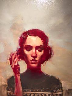 "felixinclusis: "" thirddimeart: Michael Carson Woman With a Cigarette """