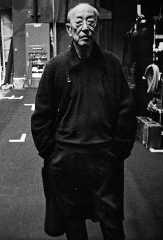 Describe yourself… I'm shy and I always wear black.  Why do you like Yohji Yamamoto's clothes? Yohji's clothes create a mature ambience. I love the sense of cleanliness and purity that comes when people only wear black.  -YUKIO NINAGAWA. Theatre Director, 76.