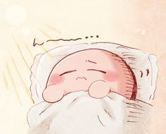Awww, what's wrong Kirby?>>> Probably having a nightmare about all the stuff that's happened to him. Or dare I say, a NIGHTMARE. My apologies. Kirby Games, Kirby Character, Nintendo, Videogames, Pokemon, Meta Knight, You Are Cute, Chibi Characters, Cute Games