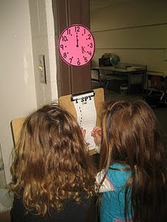 I Spy Telling Time! I love interactive activities!