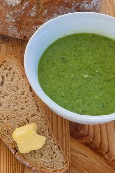 Cream of Broccoli Soup recipe (176 calories) #soup