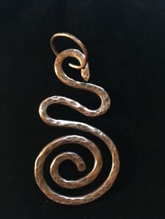 Swirled Copper Pendant by CricketBArtsy on Etsy