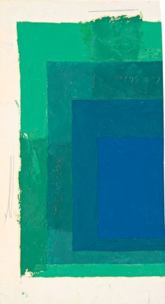 Oil on blotting paper - Josef Albers (1888-1976) Color Study for Homage to the Square, not dated, 33.3 x 18.4 cm, © 2012 The Josef and Anni Albers Foundation / Artists Rights Society New York, Digital Image by Imaging 4 Art, inv. no. 1976.2.346.