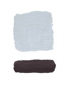 Gray & Mahogany - perfect color combo. (This shade doesn't come across as baby blue because there's so much gray in it!) Click for the paint colors.