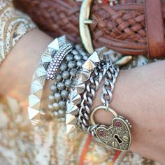 Like the locket bracelet. Not a big fan of studs