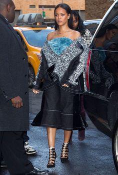 Rihanna rocking straight off the runway VFiles. #NYFW