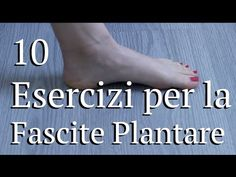 10 Esercizi fascite plantare - YouTube Yoga Fitness, Health Fitness, Thai Chi, Health Eating, Physical Therapy, Asana, Pilates, Videos, Physics