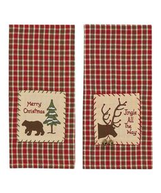 Take a look at this Park Designs Bear & Moose Dish Towel Set by Festive Entertaining Collection on #zulily today!