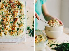 cauliflower and brown rice gratin