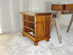 Cypress Nightstand built out of reclaimed flooring