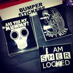 Bumper stickers at Baltimore Comic Con!