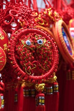 chinese new year decorations....chinese knot with twin fish knots
