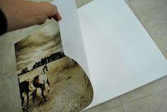 #DIY, how to affix photos to canvas