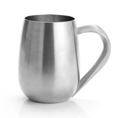 Tankards, Modern tankards - This curvy tankard has a satin finish and can be engraved on. #pewter #RoyalSelangor