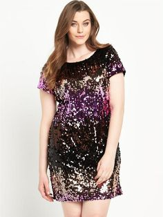 Pin for Later: Be the Belle of the Ball in These Plus-Size Party Dresses So Fabulous Sequin Front Tunic Dress So Fabulous Sequin Front Tunic Dress (£55, originally £69)