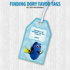 Finding Dory Favor Tags by DigitalDesignChile on Etsy