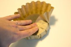 packaging soap with coffee filters