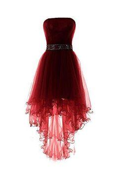 YiYaDawn Women's High-low Homecoming Dress Short Evening Gown Size 2 US Red YiYaDawn http://www.amazon.com/dp/B010D9WGGS/ref=cm_sw_r_pi_dp_kaKQwb16WX3Y7