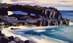 Georgia O'Keeffe Black Lava Bridge, Hana Coast No. 1, 1939