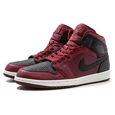38d125debe95 jordan AIR JORDAN 1 MID TEAM RED BLACK-SUMMIT WHITE bei KICKZ.com