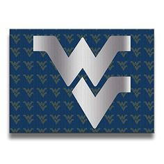 West Virginia Mountaineers Platinum Logo Canvas Frameless Paintings Decor - Brought to you by Avarsha.com