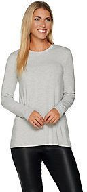 As Is H by Halston Essentials Long Sleeve Crew Neck Top
