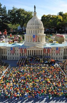 A Lego pre-enactment of President-elect Barack Obama's presidential inauguration (2008), created at Legoland CaliforniaPhotograph: Rex Features