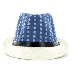 a773945b357 Faddism Men s Denim Fashion Fedora Hat