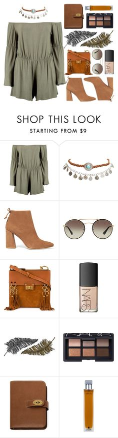 """A must"" by shanelala ❤ liked on Polyvore featuring Boohoo, Wet Seal, Stuart Weitzman, Prada, Chloé, NARS Cosmetics, Paperself, Mulberry and Illuminum"