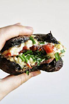 portobello mushroom cashew cheese burgers