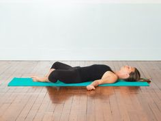 yoga poses for better sleep: reclining bound angle