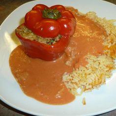 Rezept Variation von gladdy88: gefüllte Paprika mit Sojaschnetzel - lecker vegan von gladdy88 - Rezept der Kategorie Hauptgerichte mit Gemüse