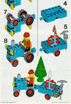 Thousands of complete step-by-step printable older LEGO® instructions for free. Here you can find step by step instructions for most LEGO® sets. Lego Duplo, Lego Minecraft, Minecraft Skins, Minecraft Buildings, Lego Friends, Lego Sets, Legos, Lego Vintage, Cool Ideas
