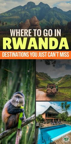 Ready for an adventure in Africa? Check out where to go in Rwanda, including destinations in Rwanda you can't miss on your travels! Including Kigali, Volcanoes National Park, Lake Kivu, and more!