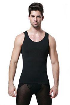 a8f08ad7866207 Amazon.com  Men s Body Shaper Slimming Shirt Vest Abs Abdomen Slim  Sports    Outdoors