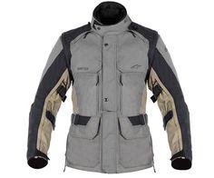 Alpinestars Men's Durban Gore-Tex Jacket Gray - Dual Sport & ADV Jackets - Textile Jackets: Men's - Gear - SoloMotoParts.com - Motorcycle Parts, Accessories and Gear