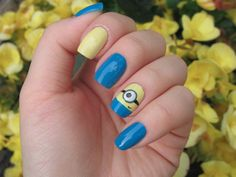 To bad I already accomplished this..#minion #nails