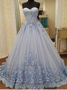 AHS048 New Arrival Off-Shoulder Blue Chiffon Train Prom Dresses with F – specialwomendress