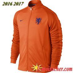 Le Nouveau:Veste de Pays-Bas Orange 2016/2017 fr-moinscher