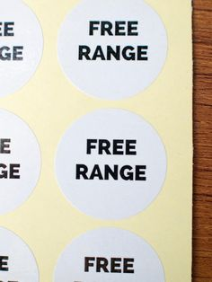 free range stickers white glossy paper by ctdscraftsupply Food Stickers, Free Range, Paper, Handmade Gifts, Etsy, Kid Craft Gifts, Craft Gifts, Diy Gifts, Hand Made Gifts